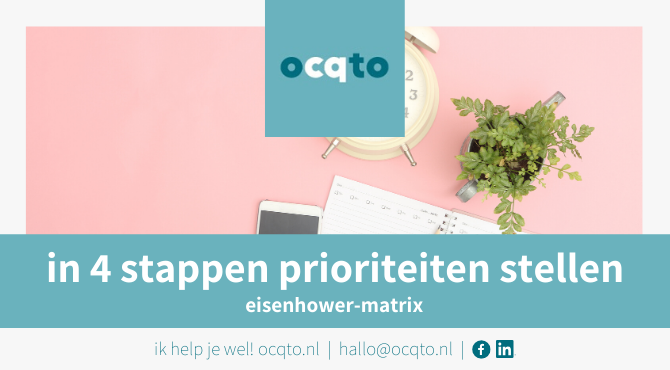 time management in 4 stappen
